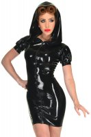 Sexy Ladies Gothic PVC Zip Up Bodycon Mini Dress L6065