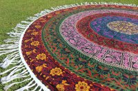 Indian Mandala Six Color Round Hippie Beach Throw Yoga Mat Tasse