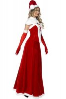 Ladies Deluxe Long Miss Santa Costume L7090