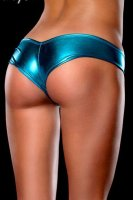 Hot Sexy  Metallic Micro Shorts Panty Thong Blue L9112-6