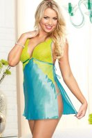 Midnight Maven Satin Toga Chemise L27847-1