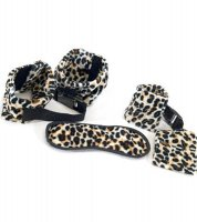 Leopard goggles Handcuffs and Leg irons TY049