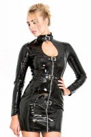 PVC Zip & Buckle Dress L6072