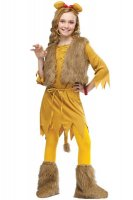 Courage Lion Child Girls Cute Halloween Costume L15285