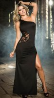 One Shoulder Lace Gown L51302-1