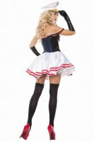 Seductive Sailor Woman Halloween Costume