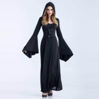 Witch Halloween Costumes with Hood 15520-3