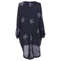 Quirky Batwing Long Sleeve Star Print Tunic Jumper Dress 28238-5