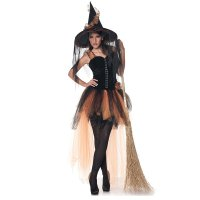 Hallow's Eve Women's Orange & Black Witch Costume 15529