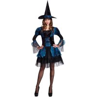 Blue Gothic Witch Adult Halloween Costume 15535