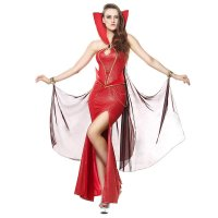 Women Red Adult Devilish Delight Queen Costume