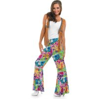 Ladies Hippie Patterned Flares