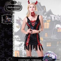Red Devil Mrs Lucifer Ladies Costume