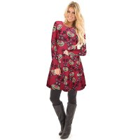 Long Sleeve O-Neck Christmas Dress