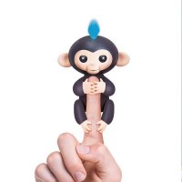 Interactive Baby Monkey - Finn (Black with Blue Hair)