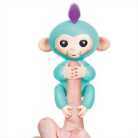 Interactive Baby Monkey - Zoe (Turquoise with Purple Hair)