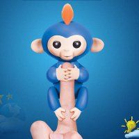 Interactive Baby Monkey- Boris (Blue with Orange Hair)