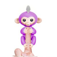 Interactive Baby Monkey - Mia (Purple with White Hair)