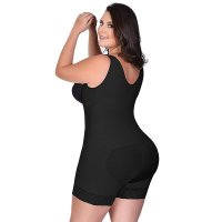 Lace Hem Underbust Seamless Butt Lifter Body Shpaer With Side Zipper