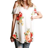 Women's Casual Loose Cross Strap Printed Top