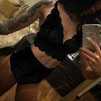 Black Flowers Lace Grenadine Cut Out Two Piece Short