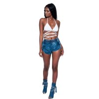 Blue Denim Strings Shorts