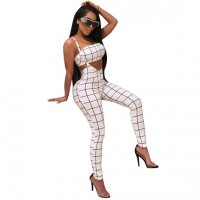Printed Grid Two Pc Sets Rompers