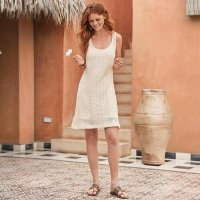 Sirroco Crocheted Lace Dress