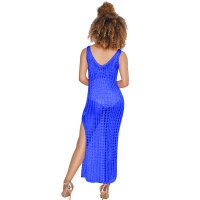 Sleeveless Hollow Long Lace Swimsuit Dress