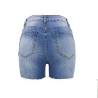 High Waist Fringe Denim Shorts