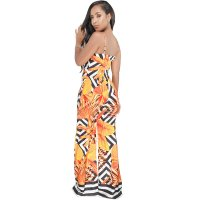 Holiday Leaf Printed Straps Jumpsuits