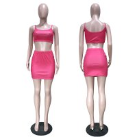 Racing Classic Straps Top And Skirt Set