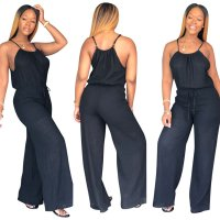 Backless Patchwork Fashion Sexy Jumpsuits