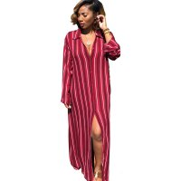 Stripe Print Loose Wide Leg Two Piece