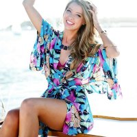Butterfly Pattern Chiffon Beach Cardigan