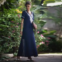 Hippie Abaya Embroidered Women's Maxi Dress