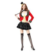 Women Sexy Magician Circus Long Sleeve Tutu Dress Costume