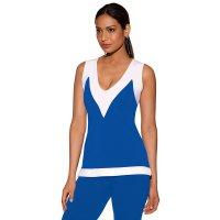 Block Color V-Neck Sport Vest