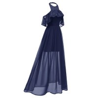 Women's Lace And Chiffon Long Swing Dress