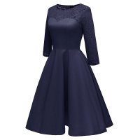 Women's Gorgeous Big Swing Lace Party Dress