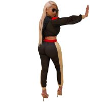 Bronx Jersey Two Pieces Set (Black/nude)