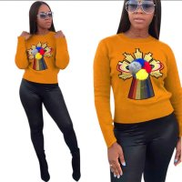 Long Sleeve Patch O-Neck Detailed Sweater