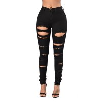 Ladder Cutout Distressed Jeans
