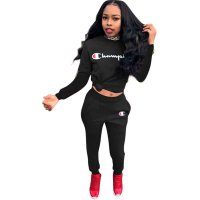 Letter Long Sleeve Sports Two Piece Set