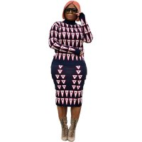 Triangle Pattern Print Two-piece Set