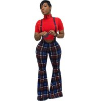 Multicolor Plaid Sling Trousers