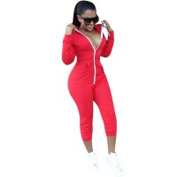 Trendy Zipper Design Jumpsuit