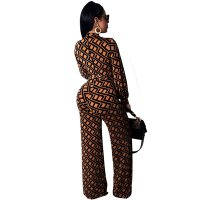 Fashion Printed Wide Leg Jumpsuit