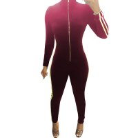 Fashion Ribbon Velvet Zipper Jumpsuit