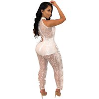 Milan Lace Fur Jumpsuit